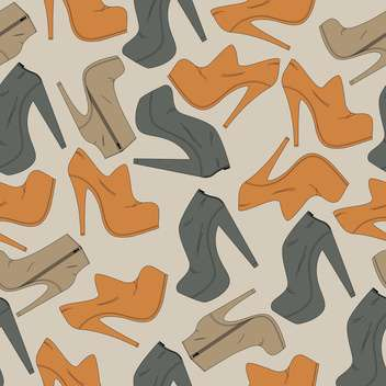 Vector background with different female shoes - vector gratuit #126112