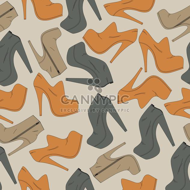 Vector background with different female shoes - Free vector #126112