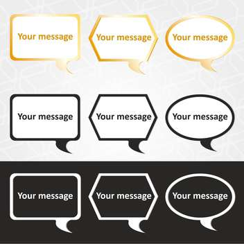 Vector illustration of speech bubbles set with text place - vector #126122 gratis
