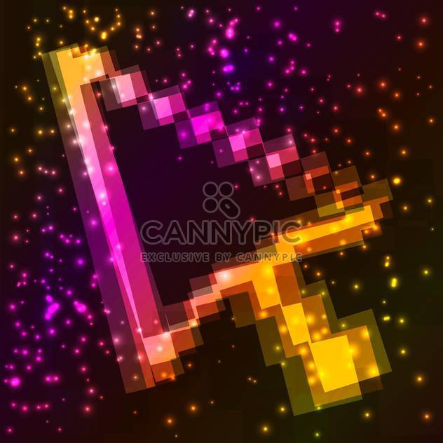 Vector illustration of colorful mouse pointer on dark space background with stars - Free vector #126152
