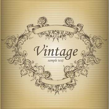 Vector vintage brown floral background with text place - бесплатный vector #126212