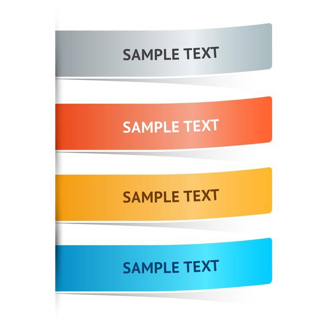 Vector colorful web banners with text place - vector gratuit #126372