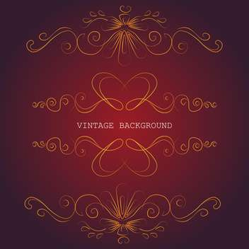 Set of floral design elements on red background - Free vector #126452
