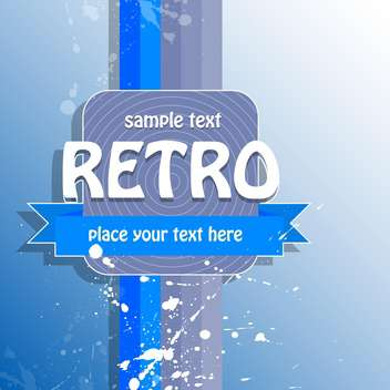 Vector retro background with text place and paint signs - vector #126472 gratis