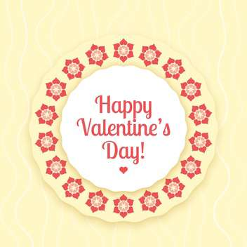 Vector card for Valentine's day background with flowers - Free vector #126482