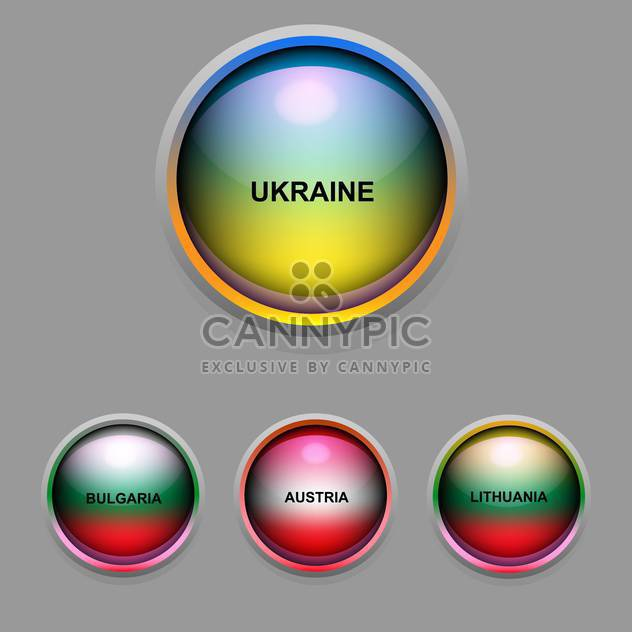 Vector set of colorful icons with round flags - Free vector #126492