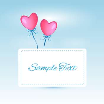 Vector background with heart shaped balloons with text place - vector gratuit #126522