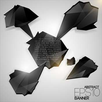 Vector set of black futuristic banners on white background - vector #126562 gratis