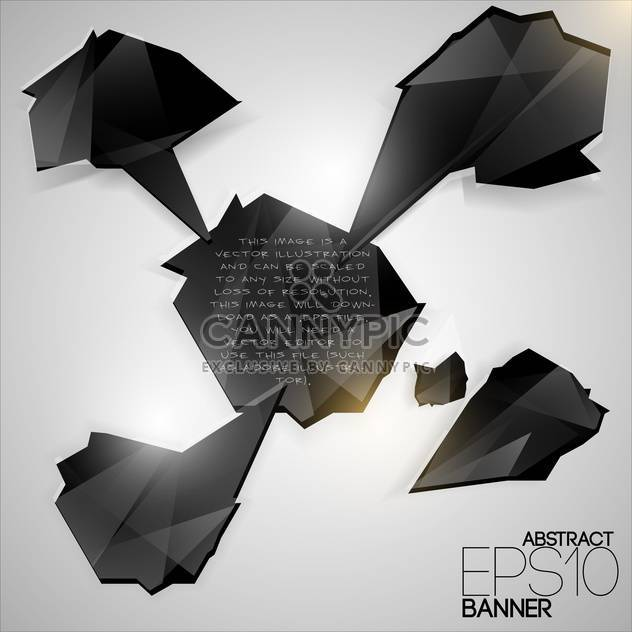 Vector set of black futuristic banners on white background - Free vector #126562