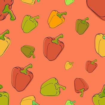 colorful illustration of background with healthy peppers - vector gratuit #126642