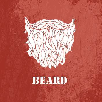 Vector illustration of male beard on brown background - vector gratuit #126672