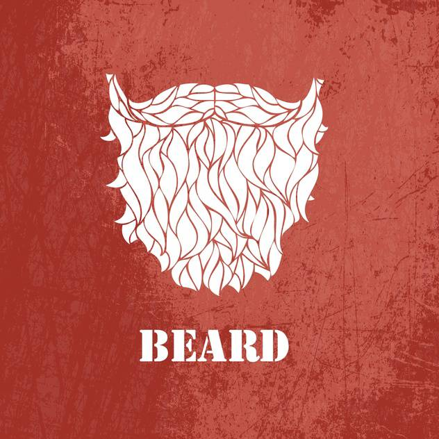 Vector illustration of male beard on brown background - бесплатный vector #126672