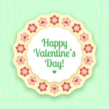 vector illustration of greeting card for Valentine's day - vector gratuit #126682