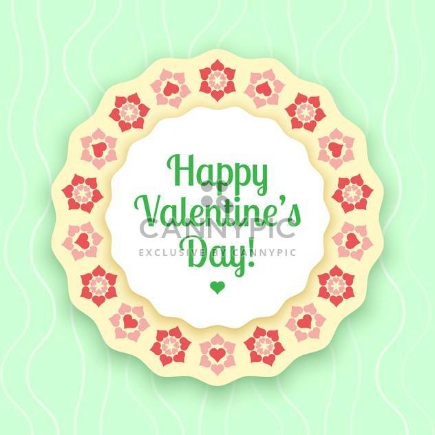 vector illustration of greeting card for Valentine's day - Free vector #126682