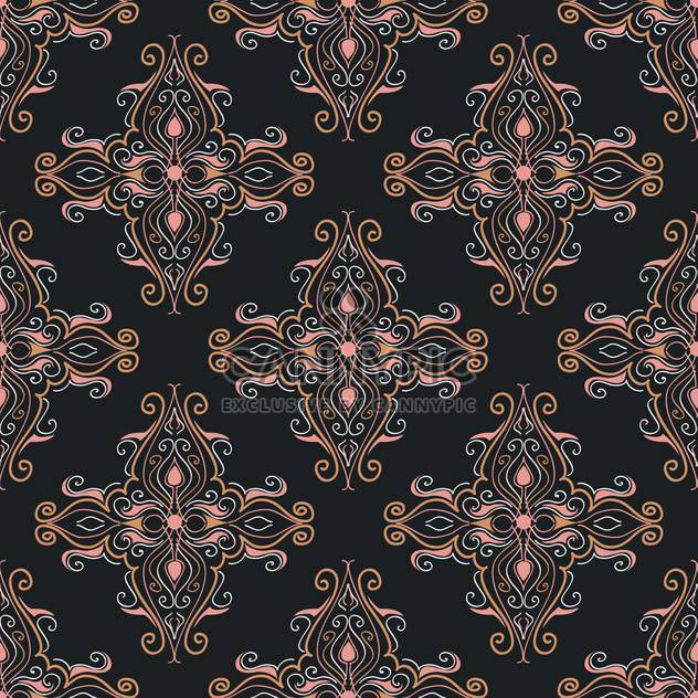 Vector vintage background with art floral pattern - Free vector #126762