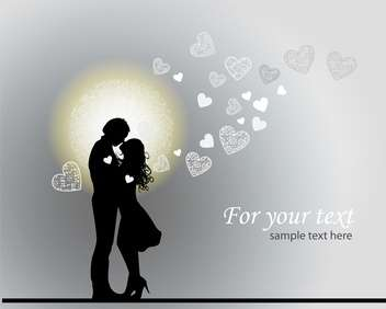 Valentine's romantic background with couple in love - vector gratuit #126812