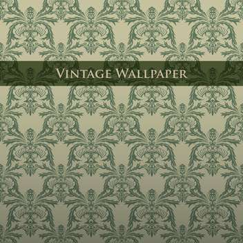 Vector colorful vintage wallpaper with floral pattern - бесплатный vector #126822