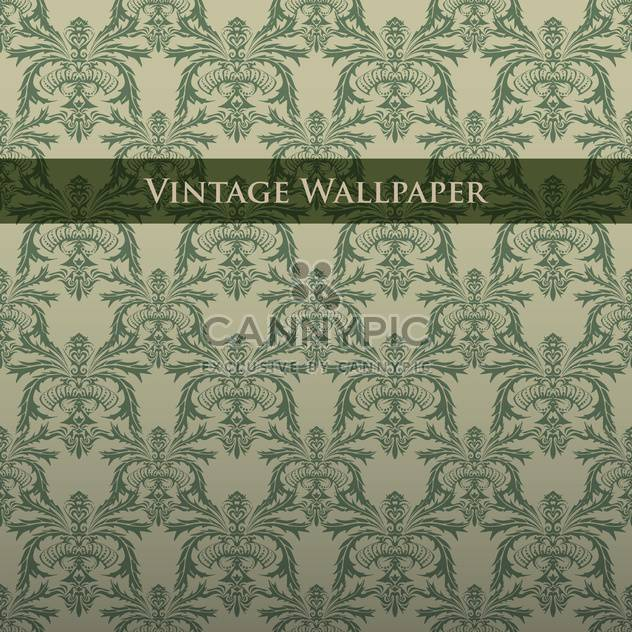 Vector colorful vintage wallpaper with floral pattern - Free vector #126822