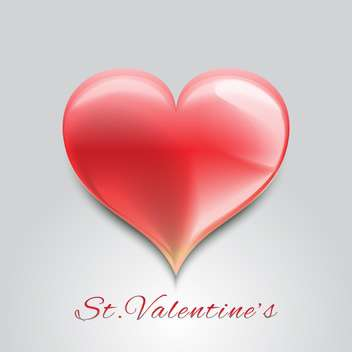 Valentine background with red heart for valentine card - vector gratuit #126912