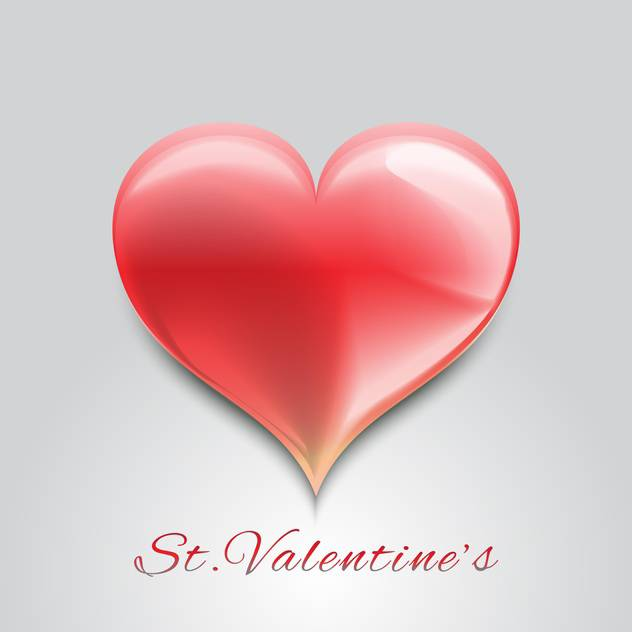 Valentine background with red heart for valentine card - Free vector #126912