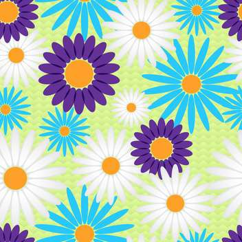 Vector floral background with colorful flowers - Free vector #127012