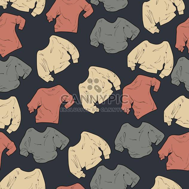 Collection of female sweaters on grey background - Kostenloses vector #127042