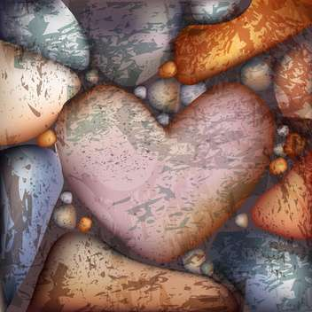 Vector background with heart shaped stone - vector gratuit #127152
