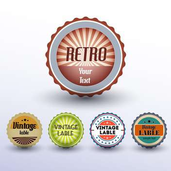 Vector set of round shaped vintage labels - бесплатный vector #127172