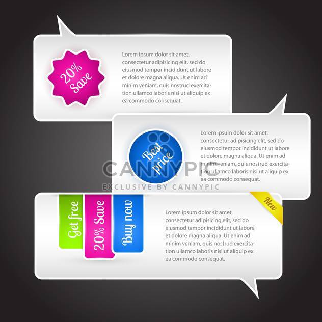 Vector speech bubbles on dark background with text place - Free vector #127202