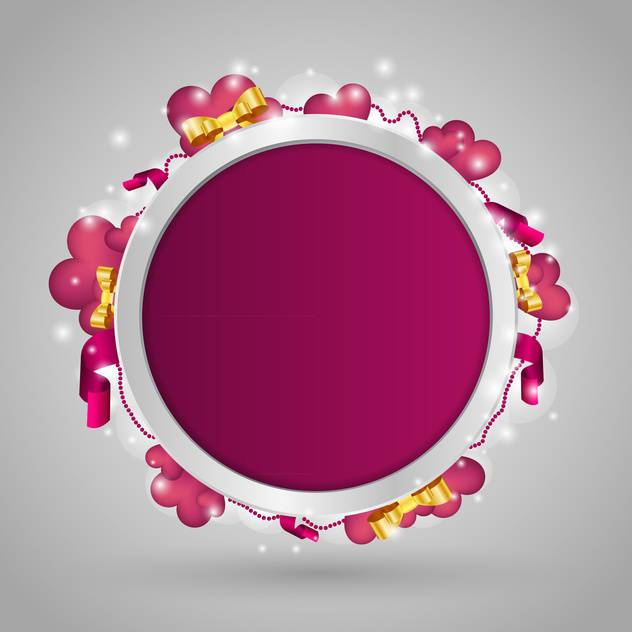 purple circle with text place and hearts - vector #127232 gratis