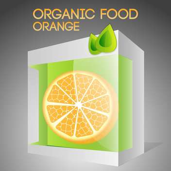 Vector illustration of orange in packaged for organic food concept - vector gratuit #127382