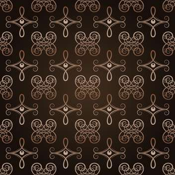 Vector vintage dark background with floral pattern - Free vector #127422