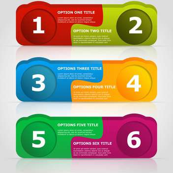 Web Design badges with text place on white background - Free vector #127452