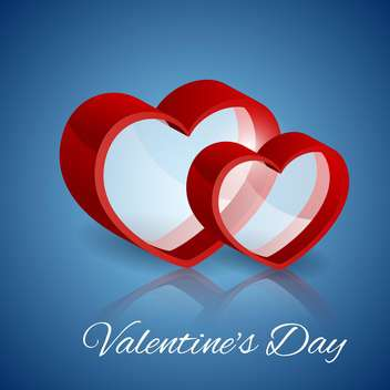Vector background with glass hearts for Valentine's day - Free vector #127462