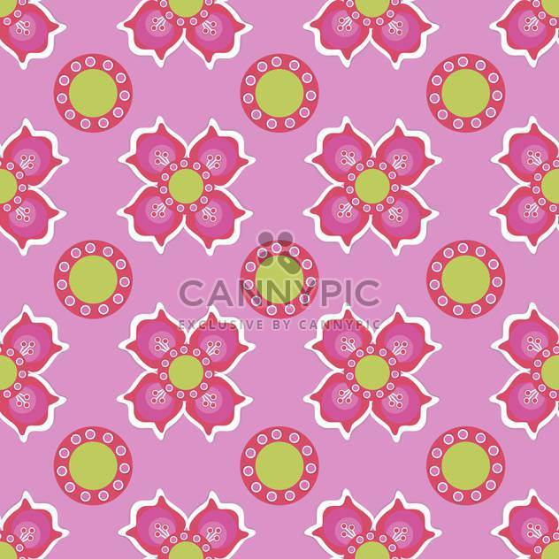 Seamless flower pattern on pink background - Free vector #127472