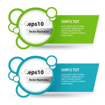 Vector set of colorful banners with text place - Free vector #127502