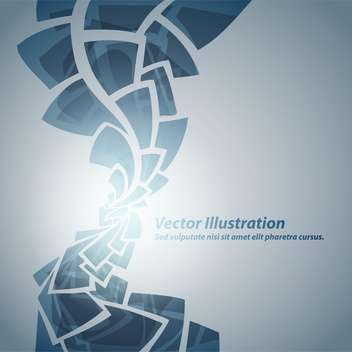 Abstract blue background with text place - vector gratuit #127522