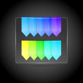 colorful flags on dark grey background - vector #127532 gratis