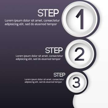 vector set of three steps web buttons - бесплатный vector #127642