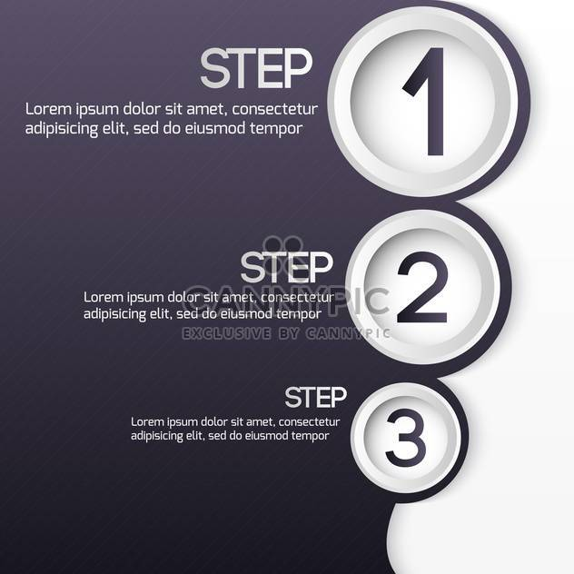 vector set of three steps web buttons - Free vector #127642