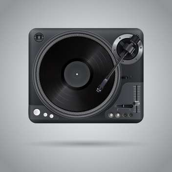 vector illustration of classic dj mixer - vector gratuit #127662
