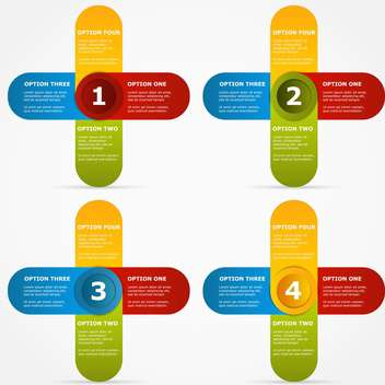 options colorful banners on white background - Free vector #127782