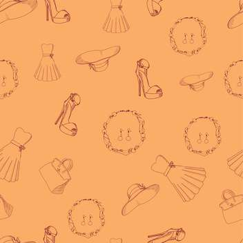 seamless pattern with female things - Free vector #127792