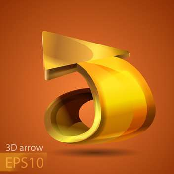 Vector golden arrow on brown background - vector gratuit #127802