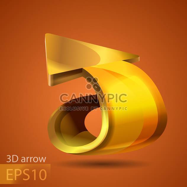 Vector golden arrow on brown background - Free vector #127802