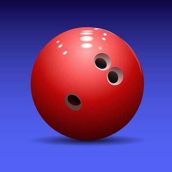 red bowling ball on blue background - vector gratuit #127902