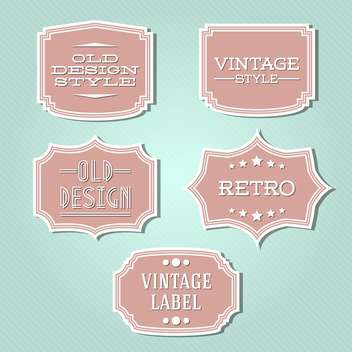 Vector collection of vintage and retro labels - vector gratuit #128042