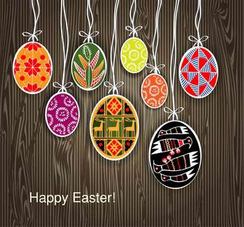 Vector background with easter eggs - Free vector #128062
