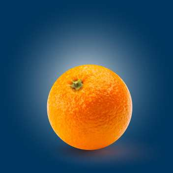 Vector illustration of round shaped ripe orange on blue background - vector gratuit #128072