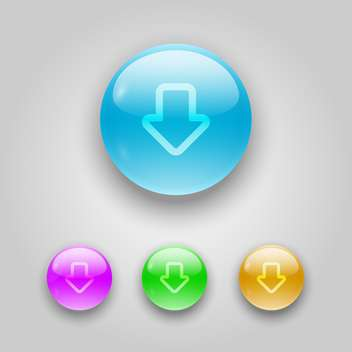 Vector set of buttons with arrows - vector gratuit #128082